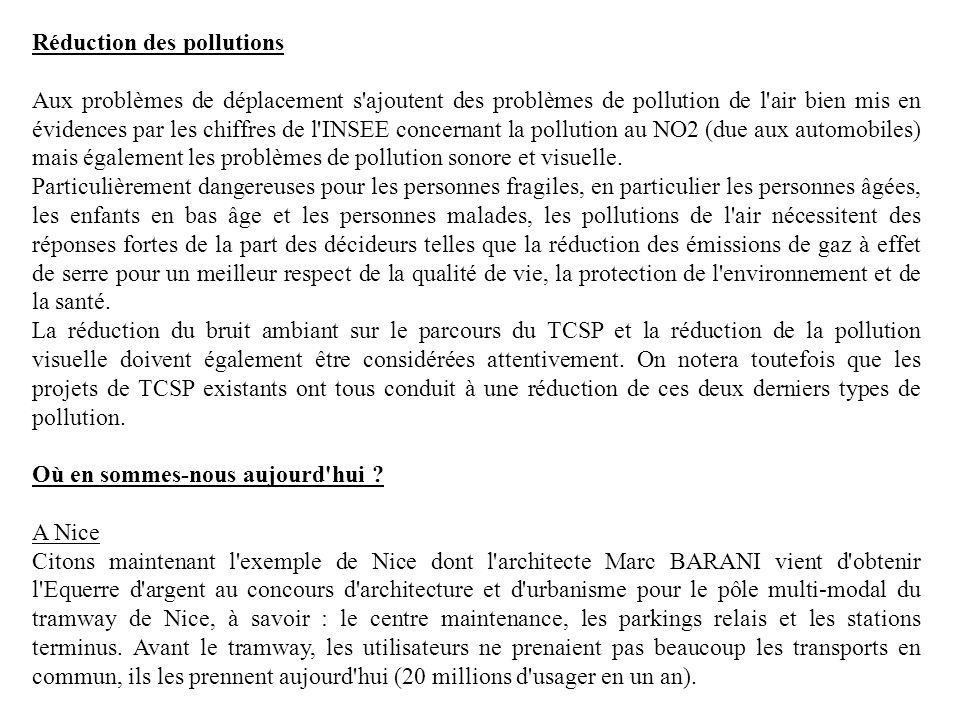 Réduction des pollutions
