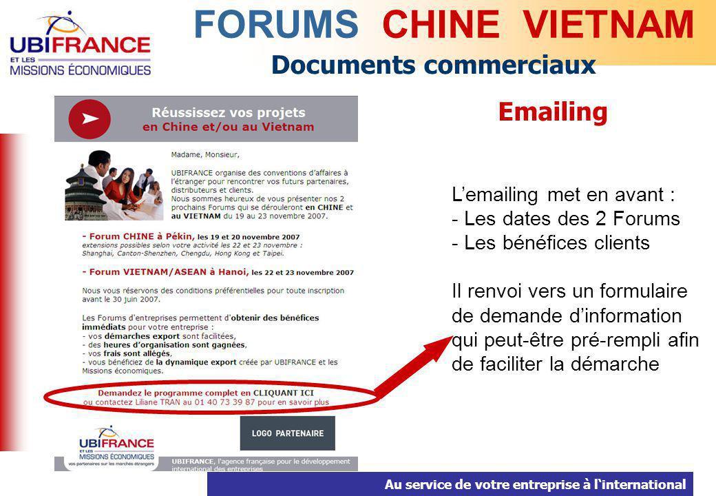 FORUMS CHINE VIETNAM Documents commerciaux Emailing