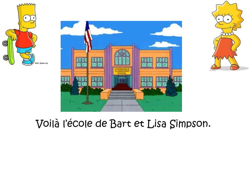 Voilà l'école de Bart et Lisa Simpson.