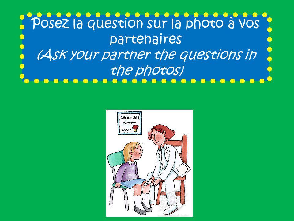 Posez la question sur la photo à vos partenaires