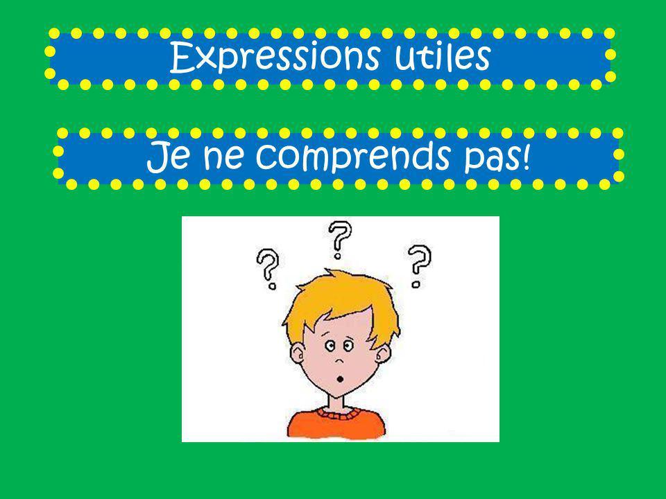 Expressions utiles Je ne comprends pas!