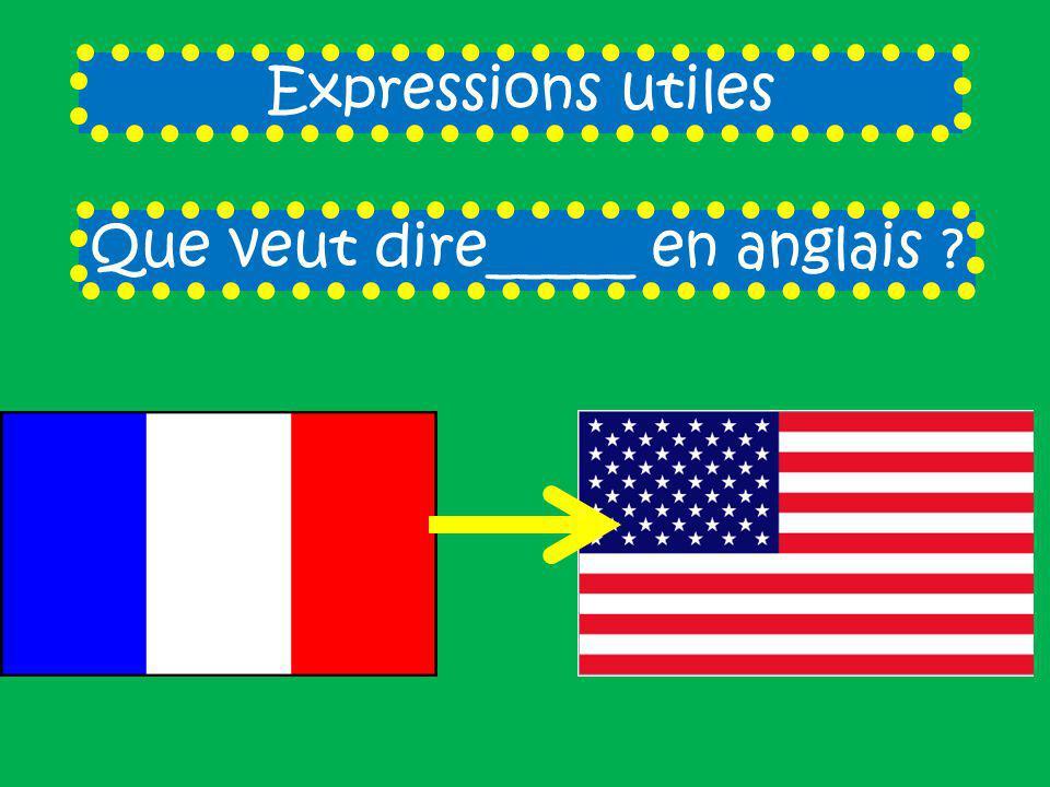 Que veut dire_____ en anglais