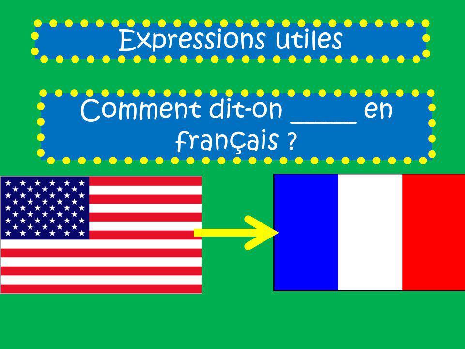Comment dit-on _____ en français