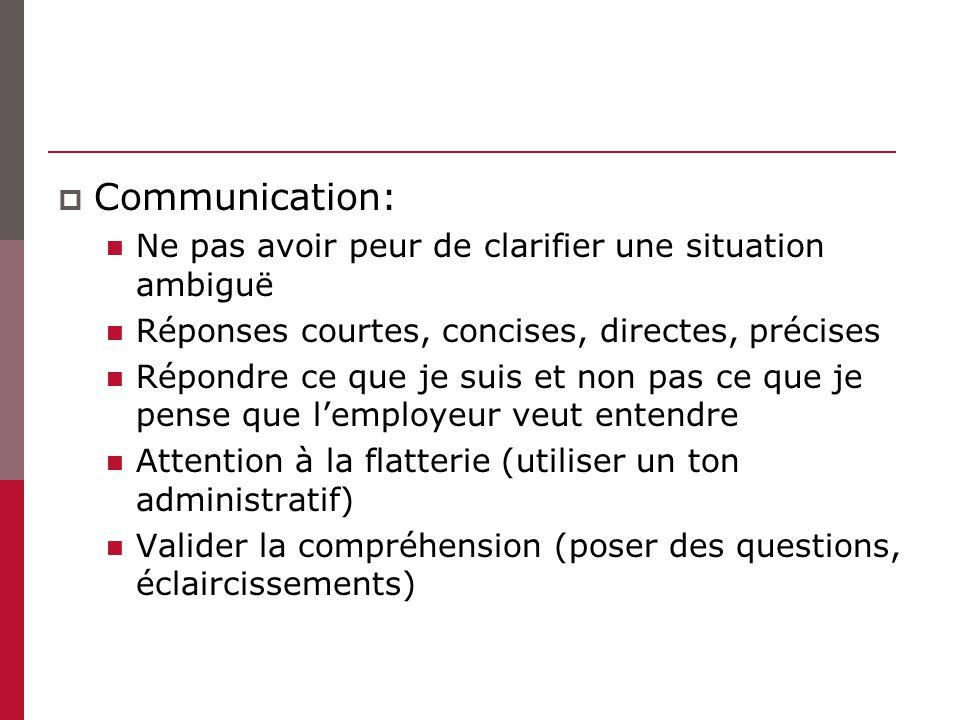 Communication: Ne pas avoir peur de clarifier une situation ambiguë