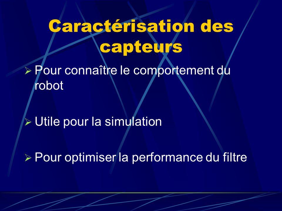 Caractérisation des capteurs