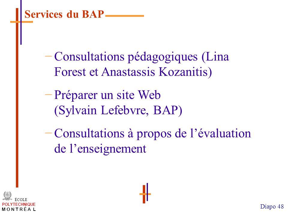 Consultations pédagogiques (Lina Forest et Anastassis Kozanitis)