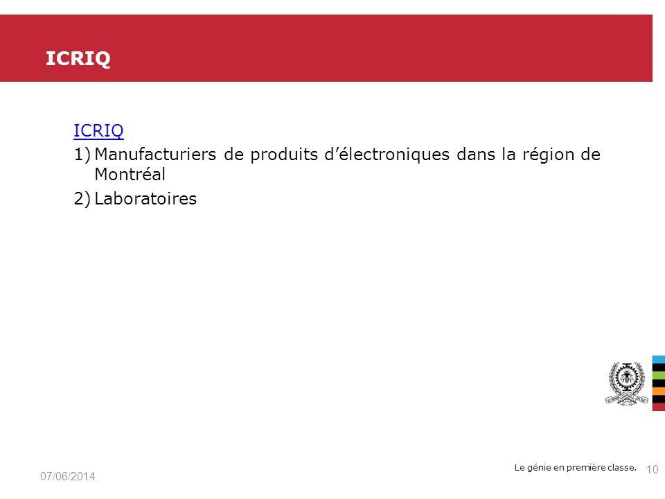 ICRIQ ICRIQ. Manufacturiers de produits d'électroniques dans la région de Montréal. Laboratoires.