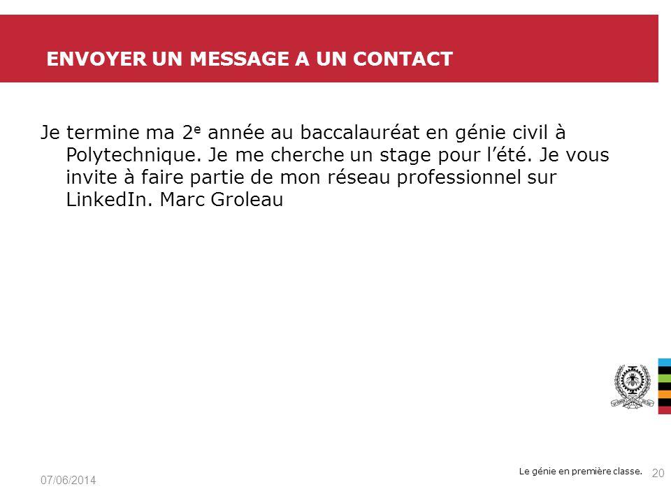 Envoyer un message a un contact