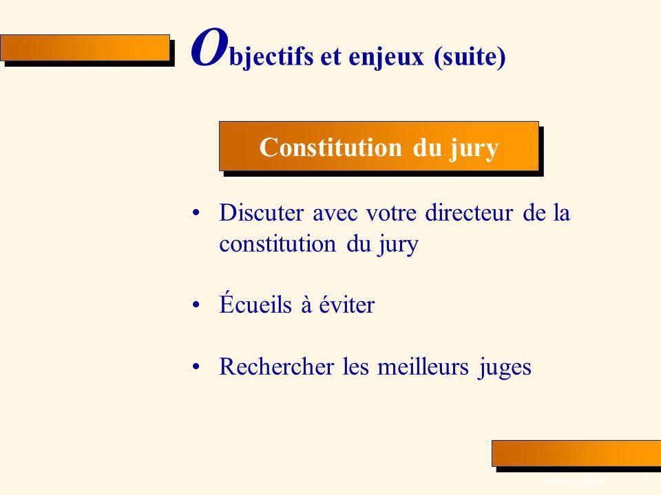 Objectifs et enjeux (suite)