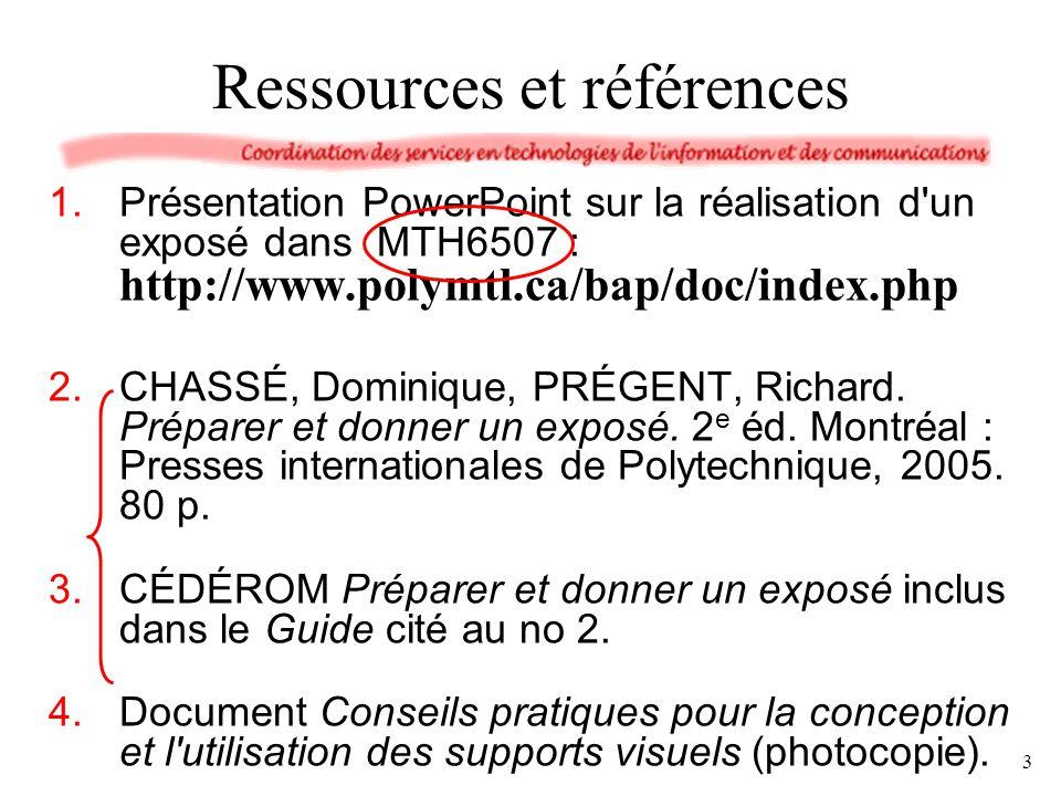 Ressources et références