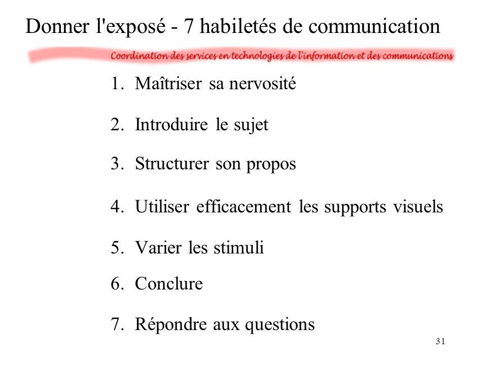 Donner l exposé - 7 habiletés de communication
