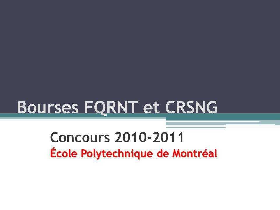 Concours 2010-2011 École Polytechnique de Montréal