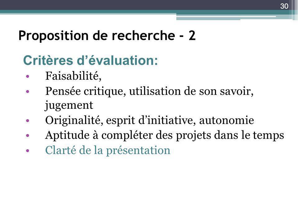 Proposition de recherche - 2