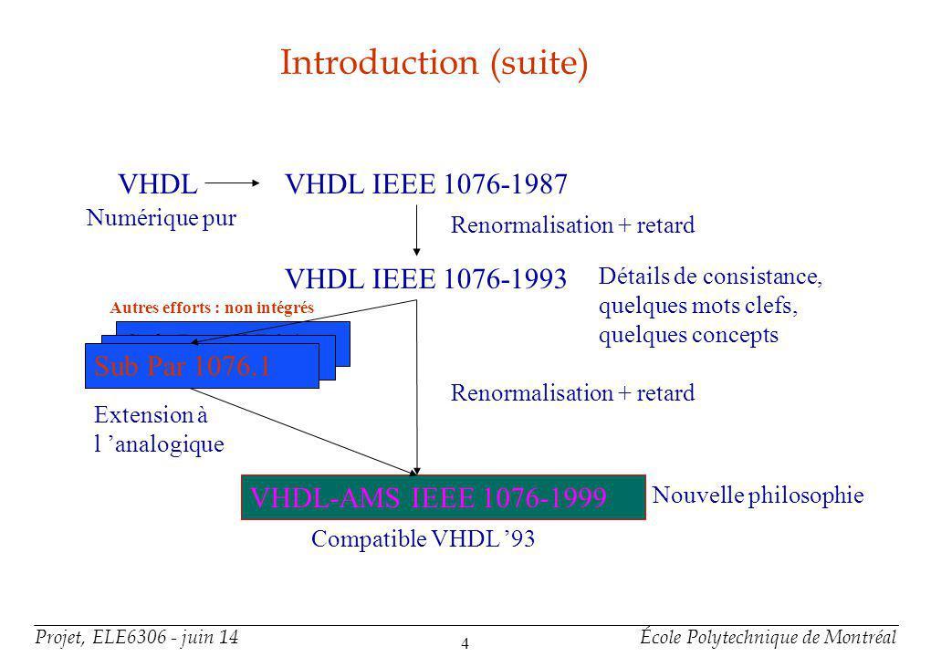 VHDL-AMS constitue un sur-ensemble de VHDL