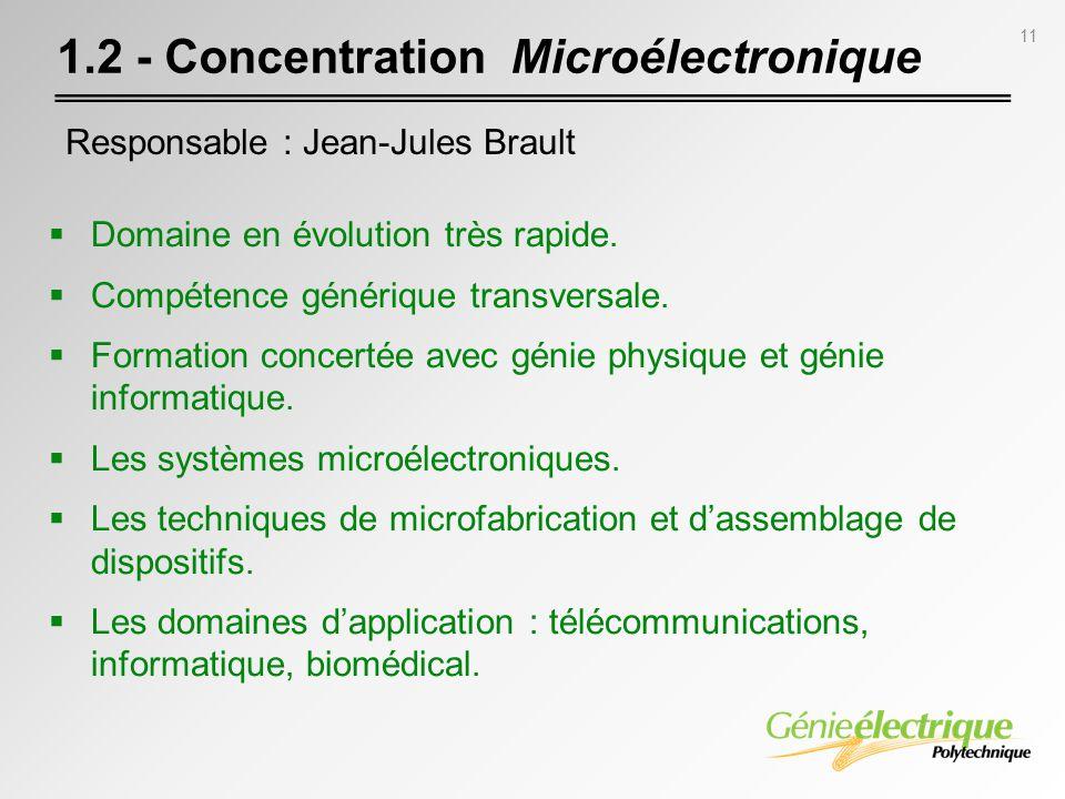 1.2 - Concentration Microélectronique