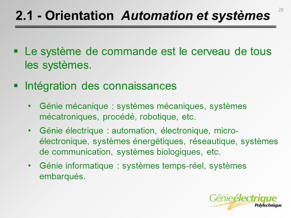 2.1 - Orientation Automation et systèmes