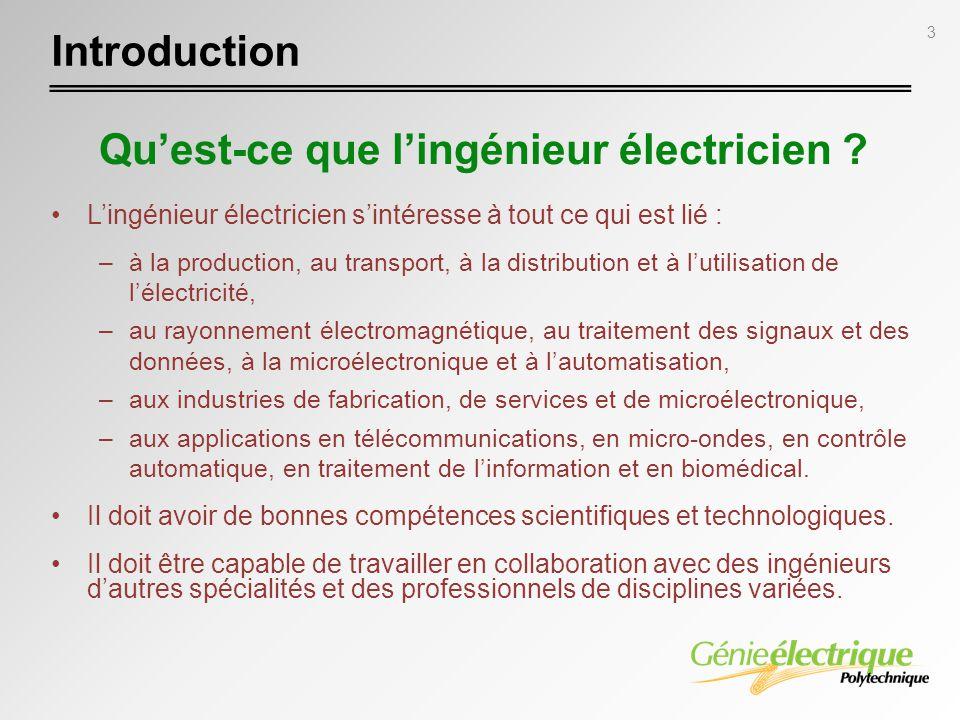 Qu'est-ce que l'ingénieur électricien