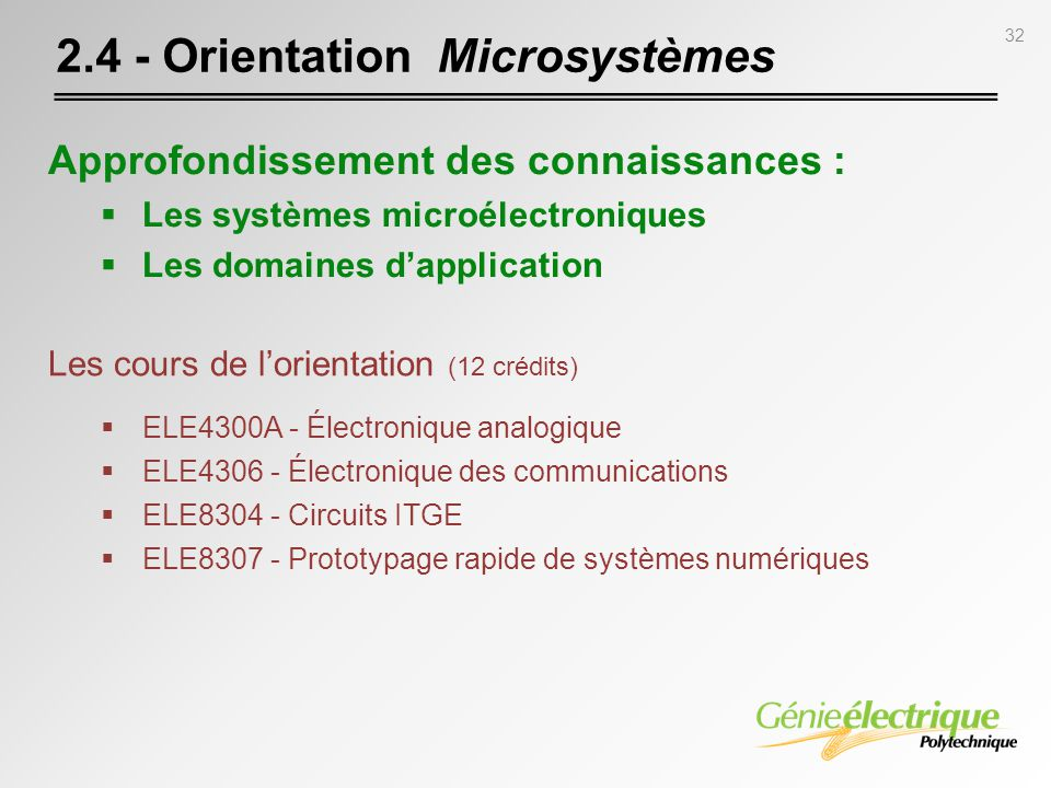 2.4 - Orientation Microsystèmes