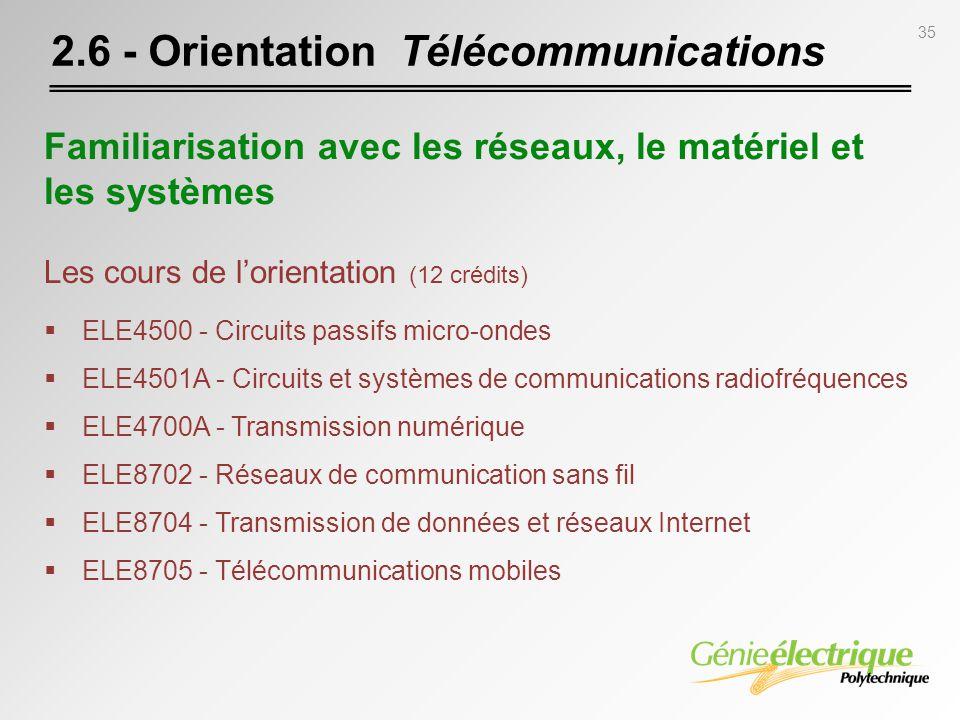 2.6 - Orientation Télécommunications