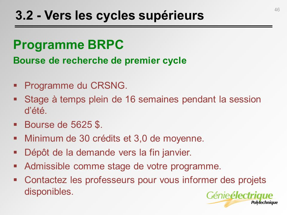3.2 - Vers les cycles supérieurs