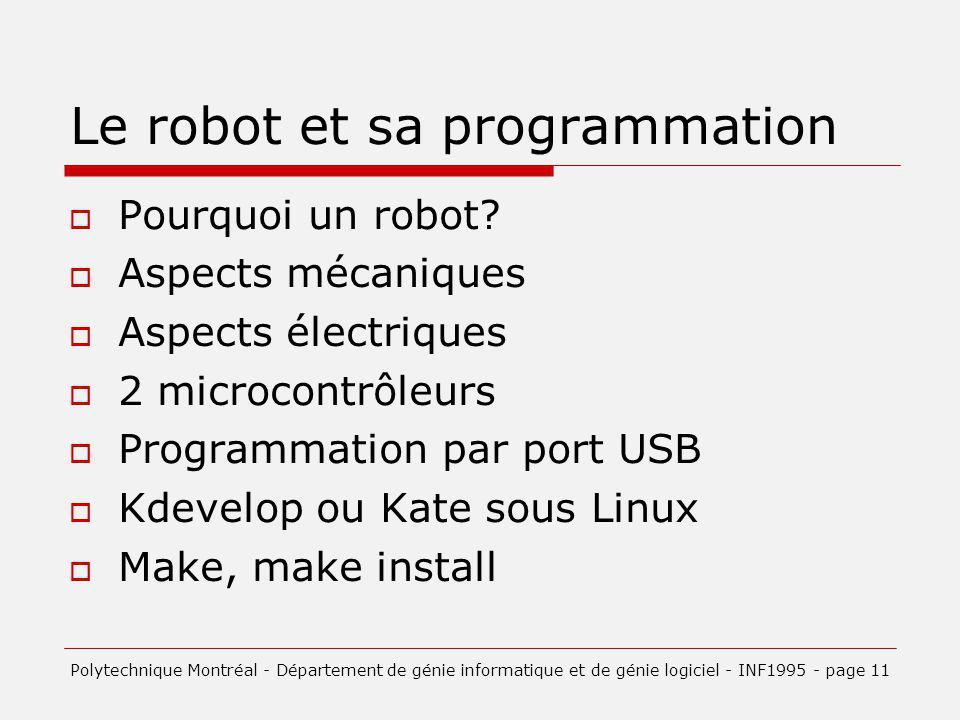 Le robot et sa programmation
