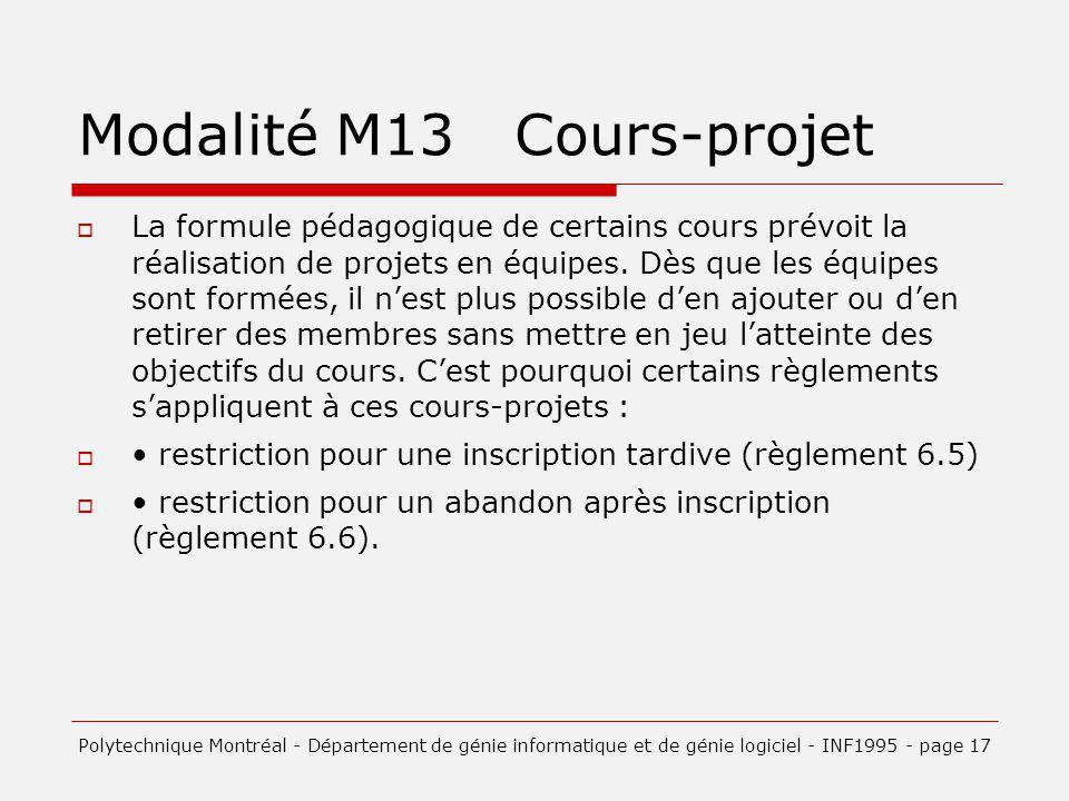 Modalité M13 Cours-projet