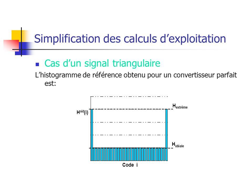 Simplification des calculs d'exploitation