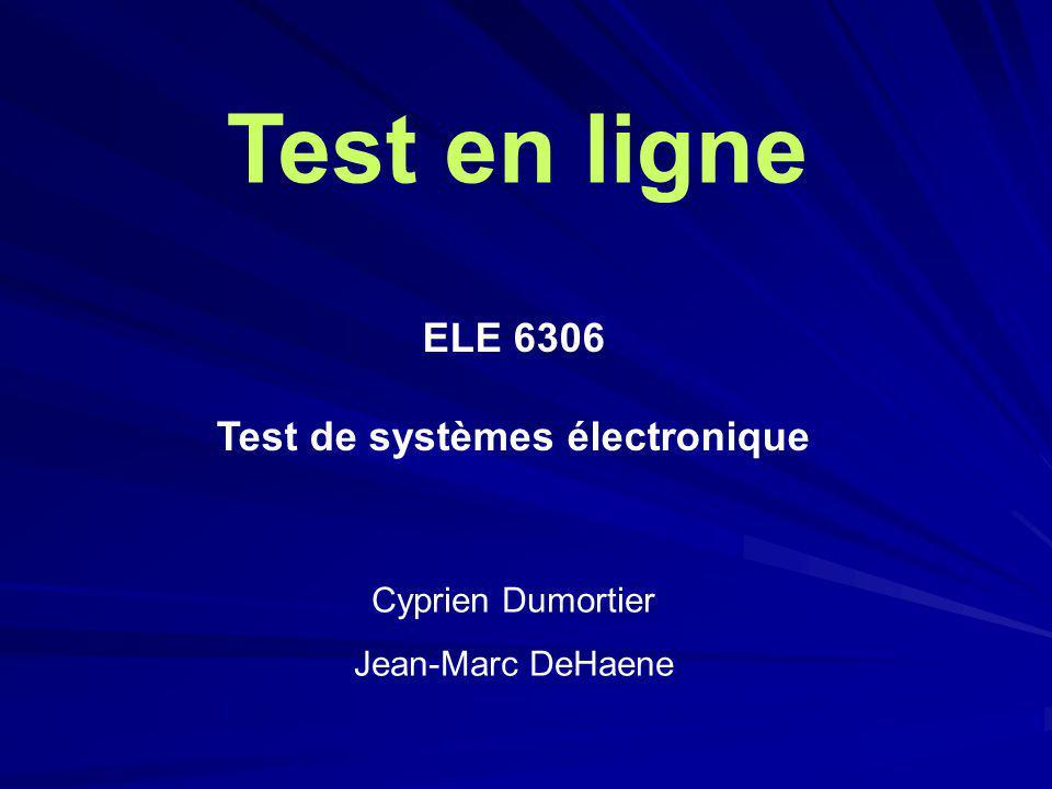 Test de systèmes électronique