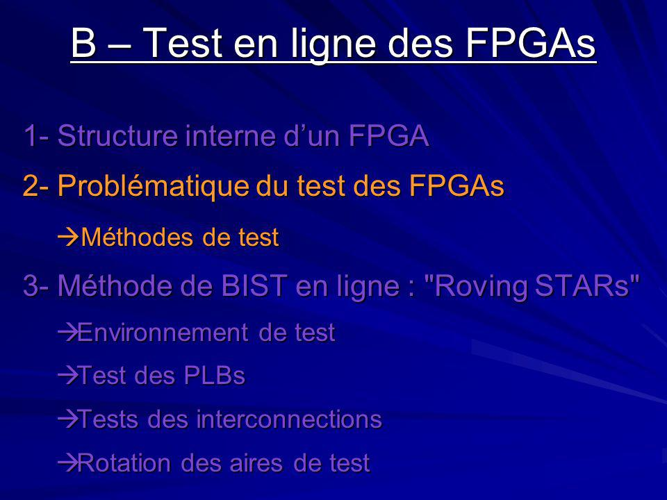 B – Test en ligne des FPGAs