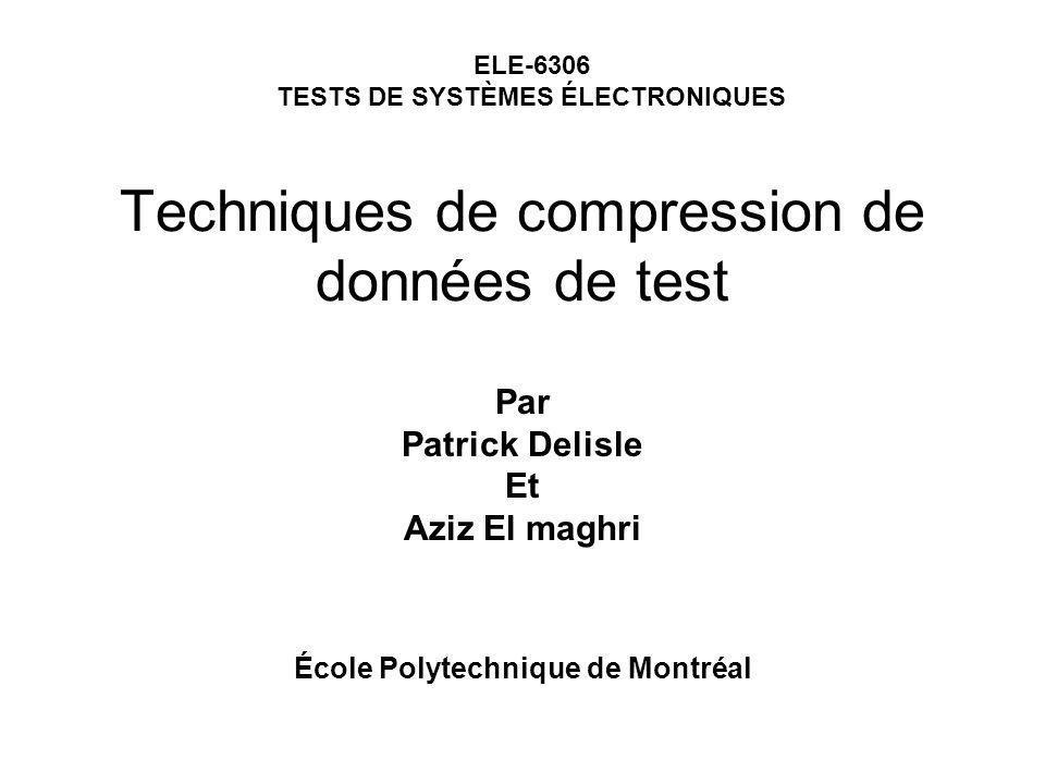 Techniques de compression de données de test