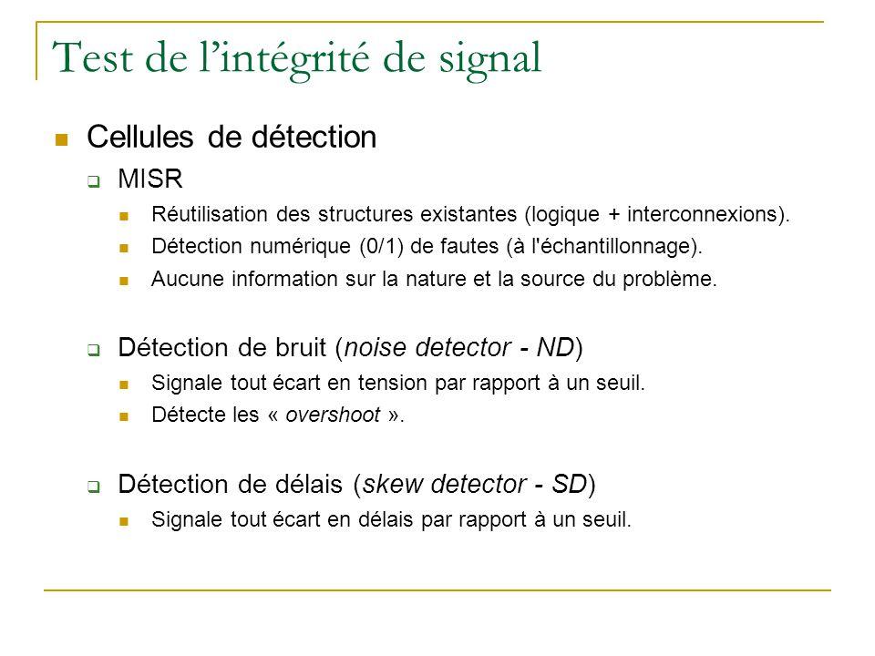 Test de l'intégrité de signal