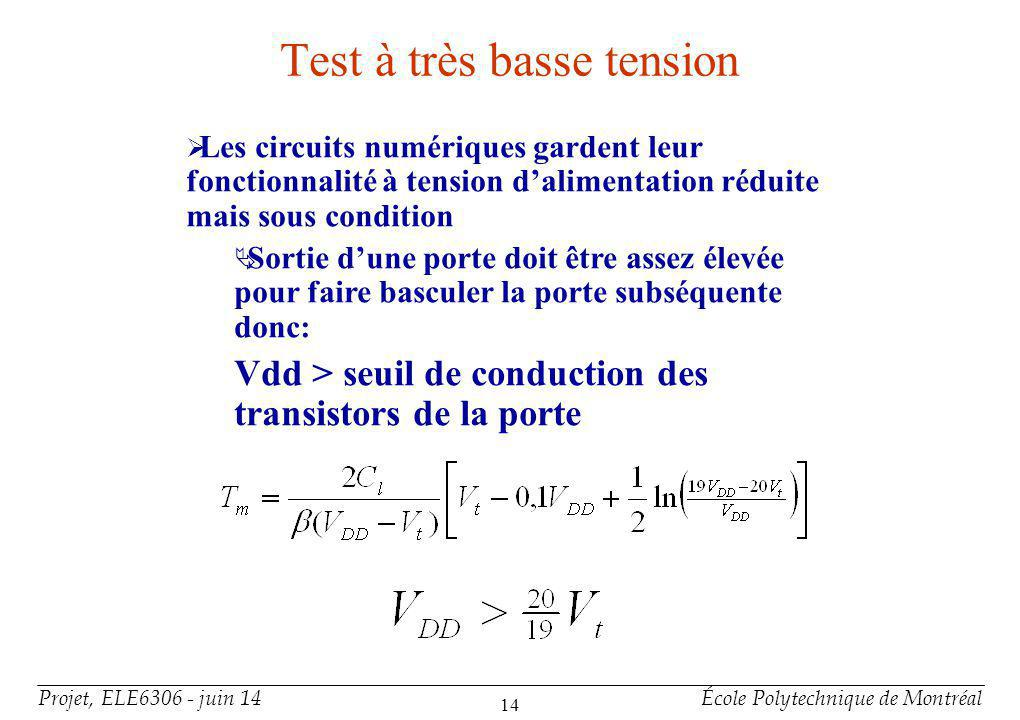 Test à très basse tension