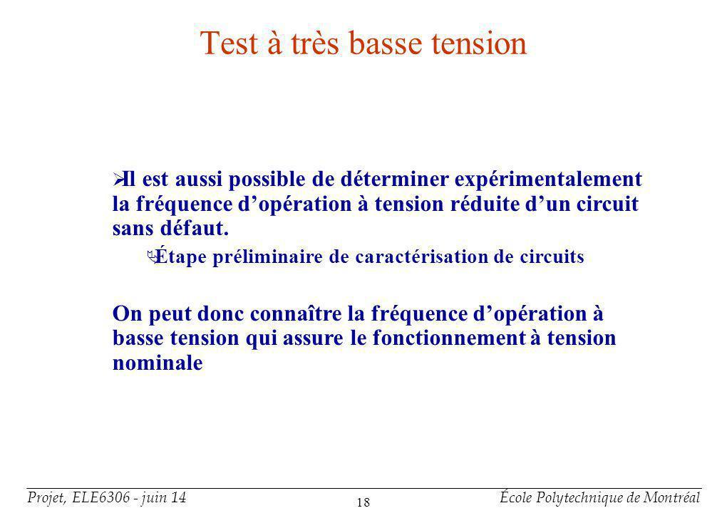 Conclusion Comparaisons des techniques Technique / Critère Testeur