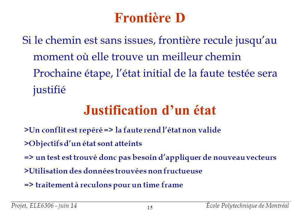 Justification d'un état (suite)