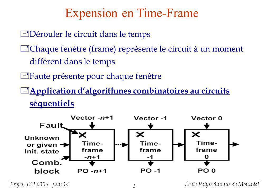 Raisons 5 valeurs logiques ne prenaient pas en compte la répétition des effets d'une faute dans un circuit séquentiel.