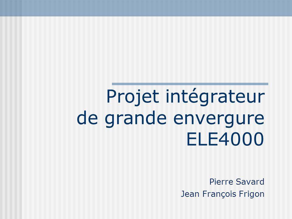 Projet intégrateur de grande envergure ELE4000