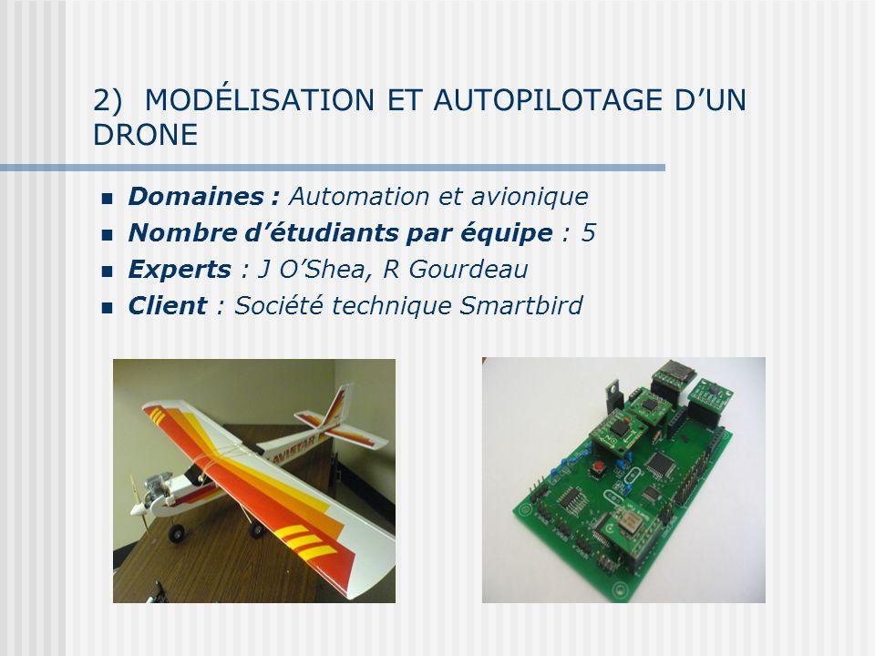 2) MODÉLISATION ET AUTOPILOTAGE D'UN DRONE