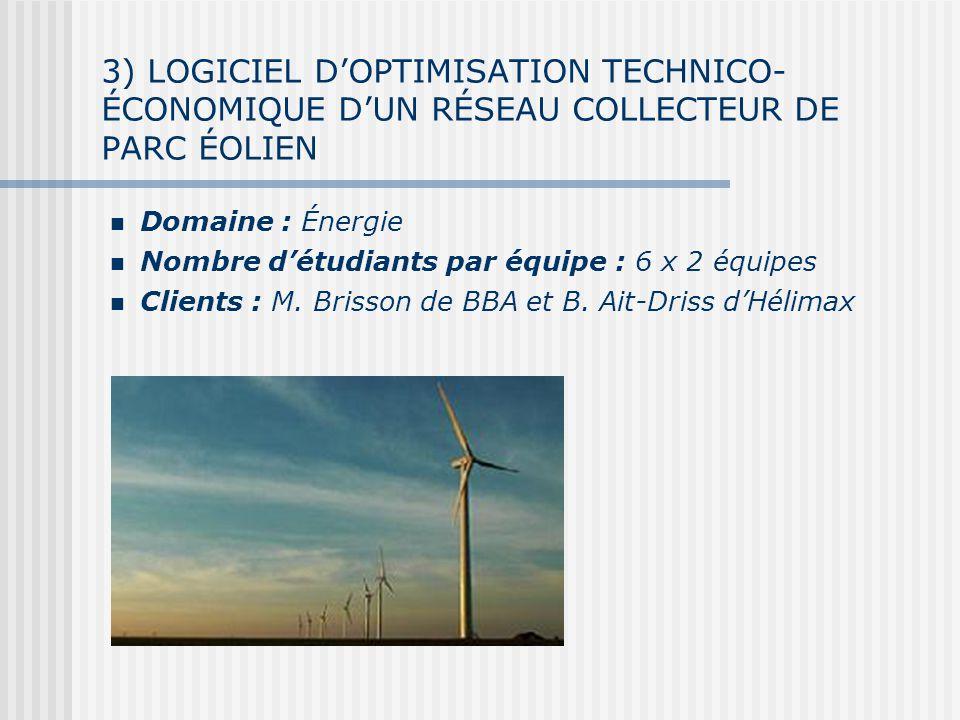 3) LOGICIEL D'OPTIMISATION TECHNICO-ÉCONOMIQUE D'UN RÉSEAU COLLECTEUR DE PARC éOLIEN