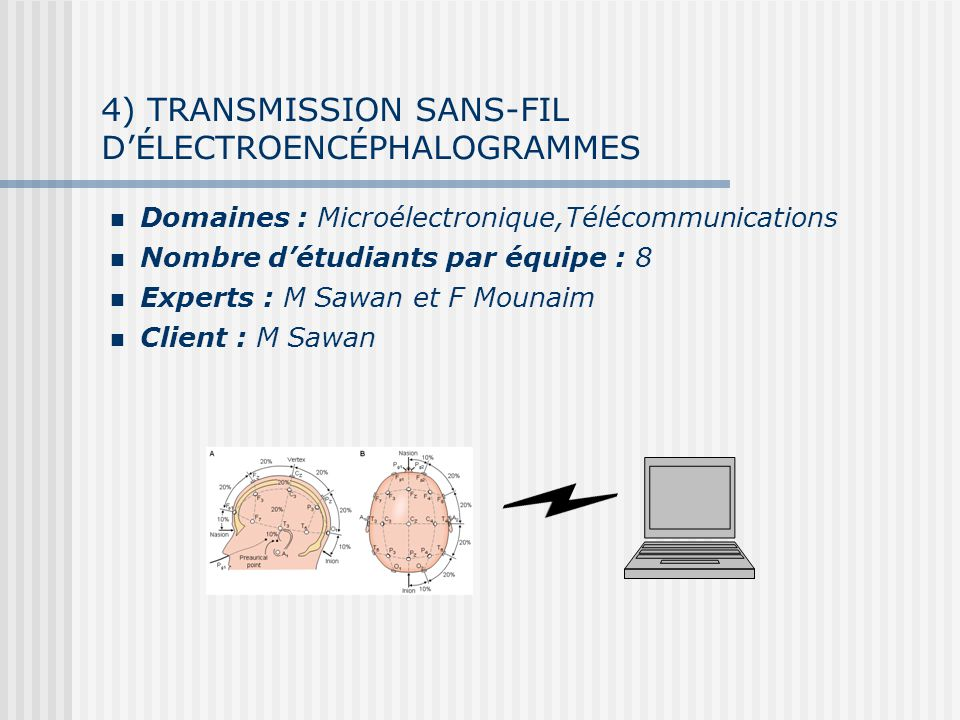 4) TRANSMISSION SANS-FIL D'ÉLECTROENCÉPHALOGRAMMES