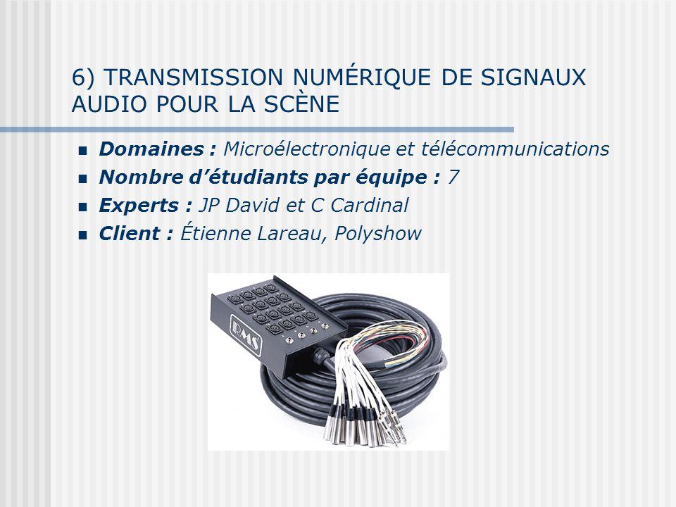 6) TRANSMISSION NUMÉRIQUE DE SIGNAUX AUDIO POUR LA SCÈNE