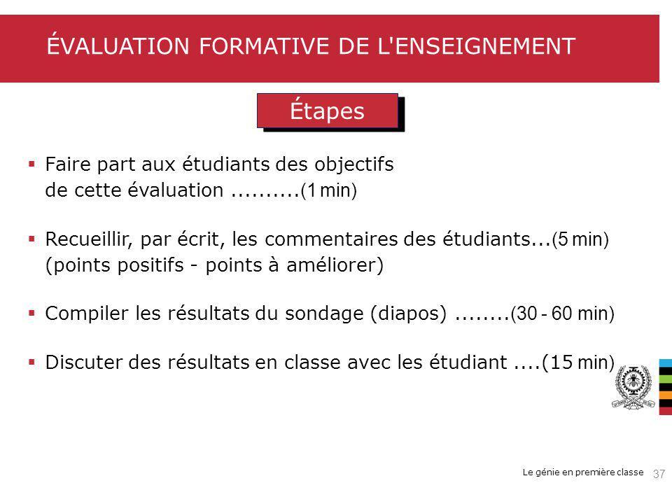 Évaluation formative de l enseignement