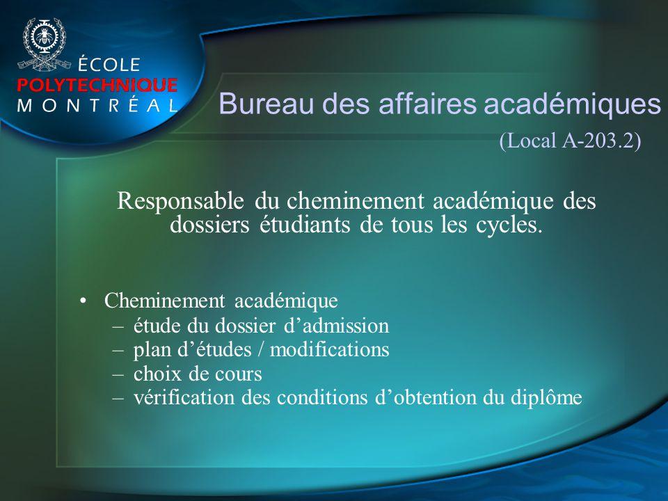 Bureau des affaires académiques