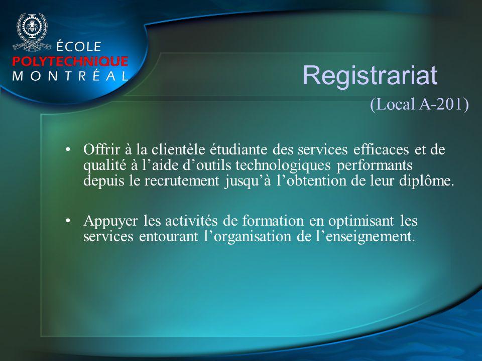 Registrariat (Local A-201)