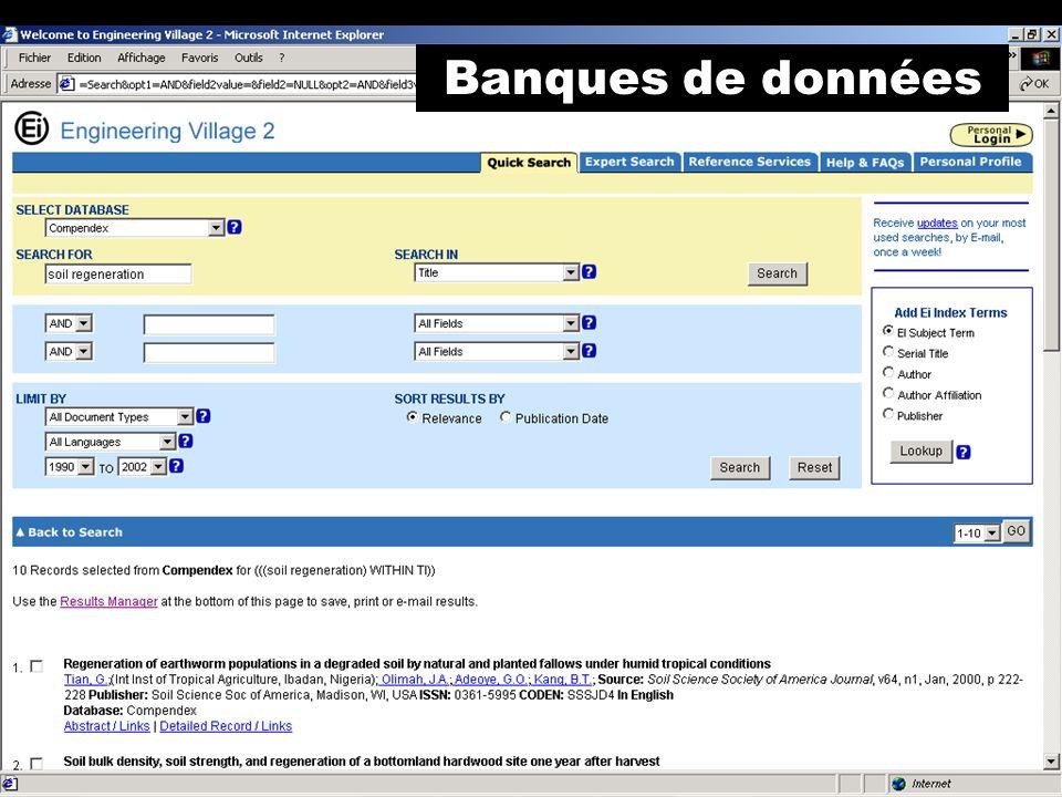 Banques de données