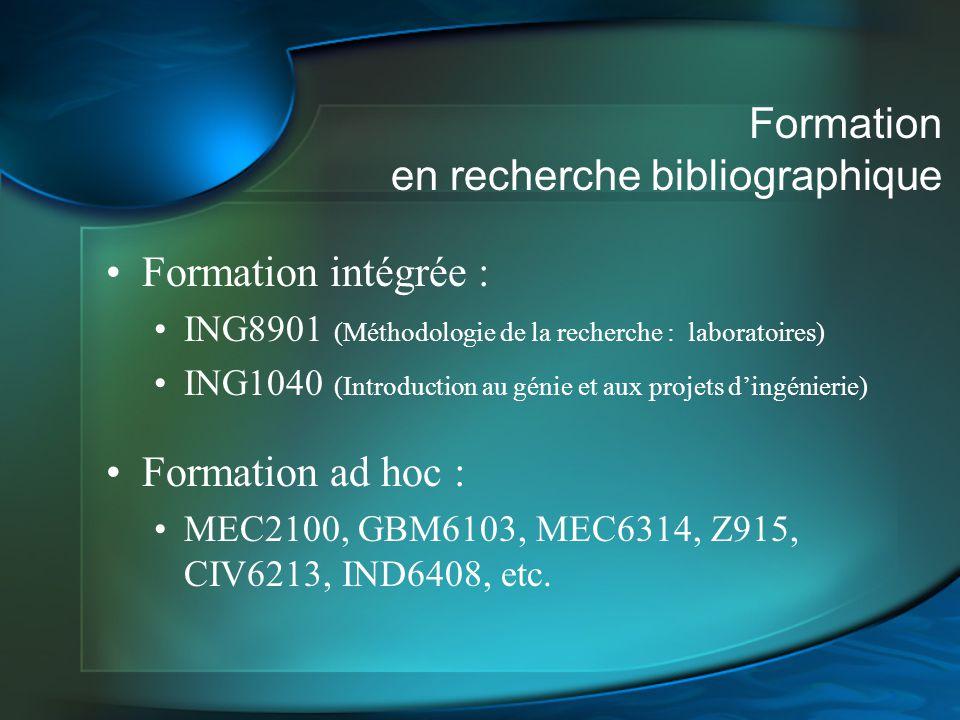 Formation en recherche bibliographique