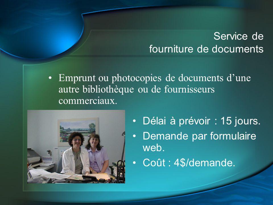 Service de fourniture de documents