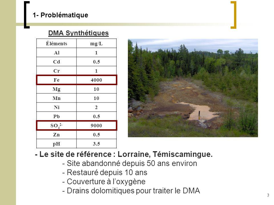 - Le site de référence : Lorraine, Témiscamingue.
