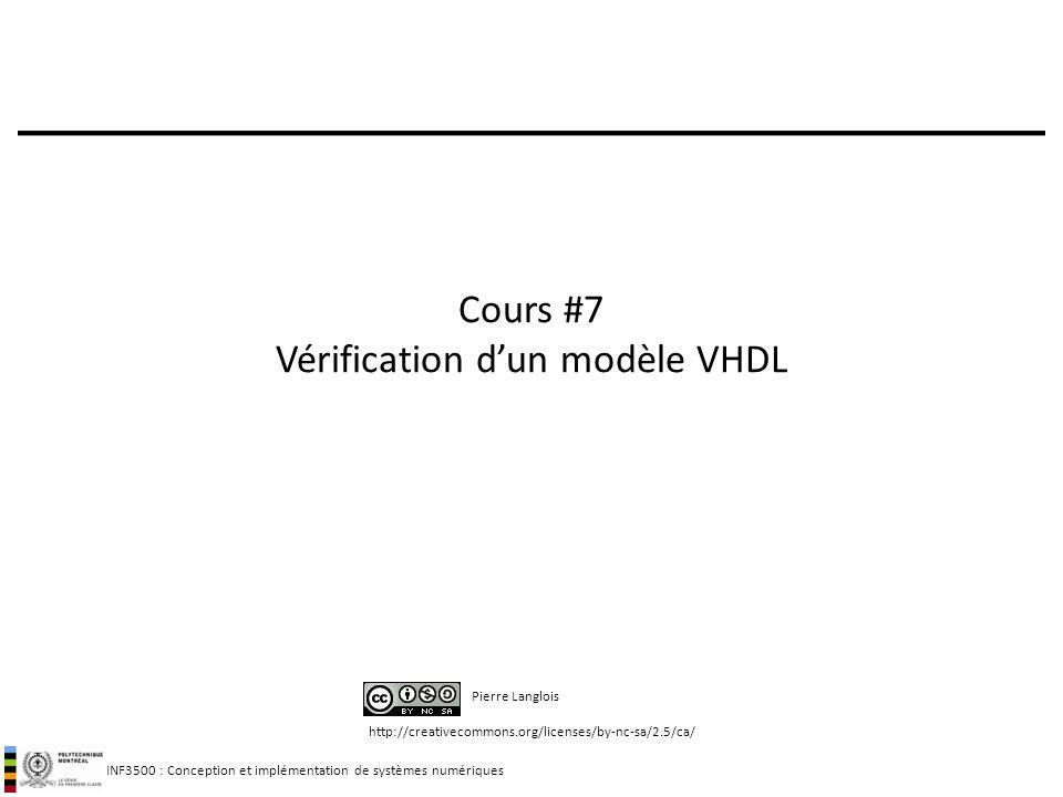 Cours #7 Vérification d'un modèle VHDL