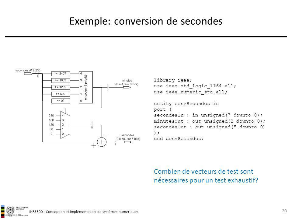 Exemple: conversion de secondes