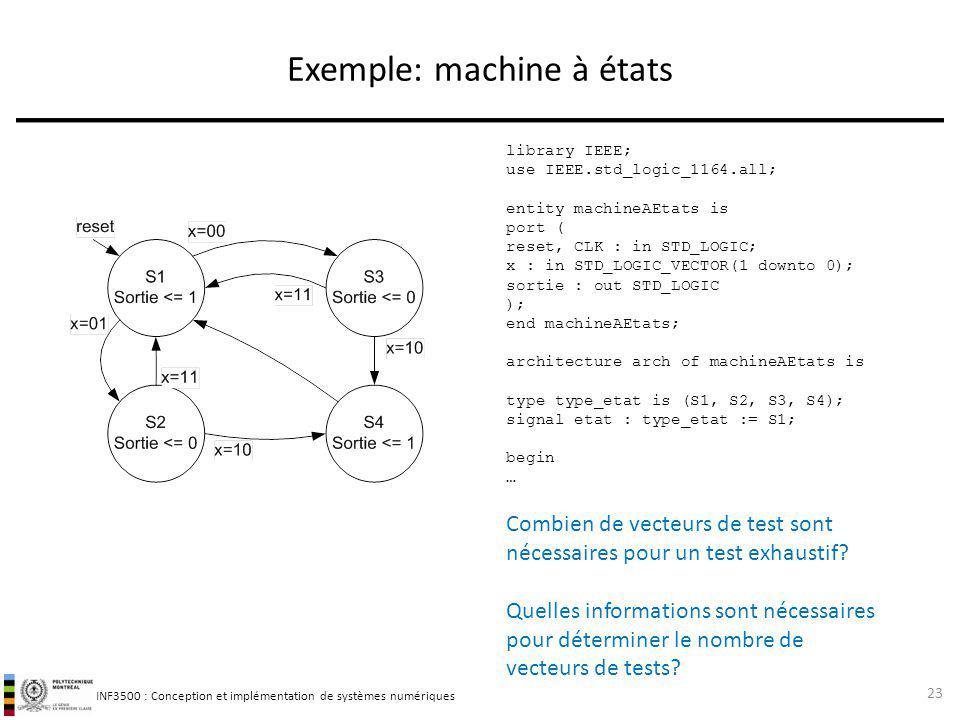 Exemple: machine à états